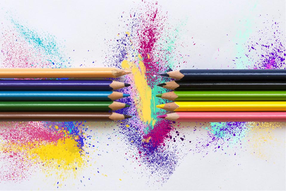 Amateur PicsArt editing of a free to edit image. #splash #colorful #freetoedit #pencilart #clipartqueen