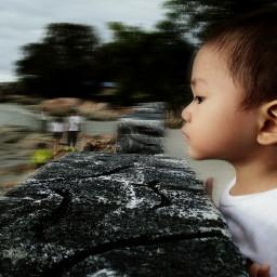 potrait boy baby cute blur