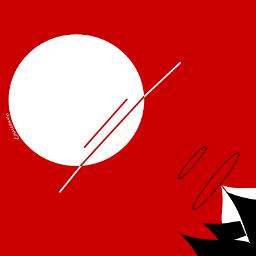 minimal red black white digitaldrawing