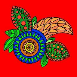 zentangle colorful photography