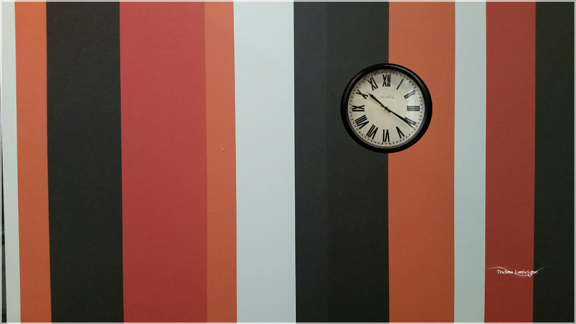 #clock  #orange #freetoedit  #wall #stripes  #customclipart  #madewithpicsart #photography #galaxys5