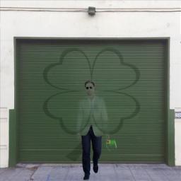 green handsome leprechaun garage