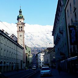 church innsbruck snow winter city