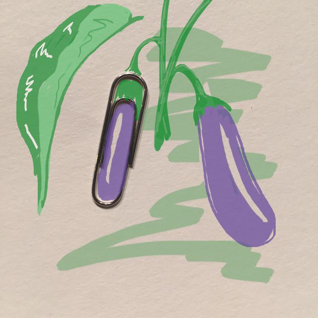 A growing eggplant... #art #creative #imagination #draw #clip #eggplant