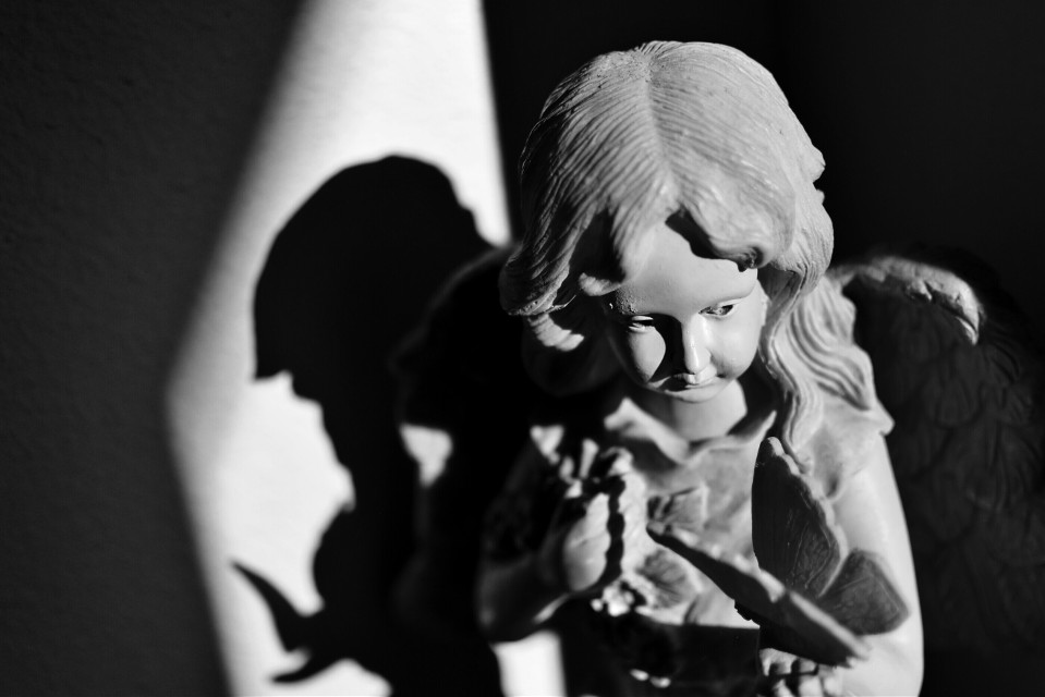 We must not be afraid to look into our shadow for darkness and light both spring from the same source: within ourselves.   #blackandwhite #bokeh #dof #depthoffield #shadowplay  #statue #light #nikon #darkness #shadow