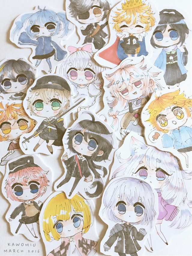I didn't want to post a lot of drawings or else i would be spamming xD  But heres a lot of chibis i did over the week !  #haikyuu #howlsmovingcastle #toukenranbu #oc #speeddraw #traditionalart
