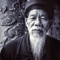 portrait oldman black people temple