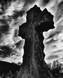 cemetery graveyard tombstone cross blackandwhite