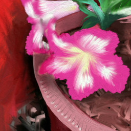 garden houseplants drawing painting fingerpainting