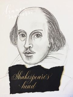 calligraphy pencildrawing shakespeare