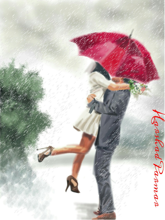 #wdprainyday#love#couple#rain #digital#artistic#emotion#people Hope u all like it my friends. My earlier post on valentine. Thanx in advance for ur likes, votes & repost if any.