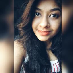 selfie during orange lips