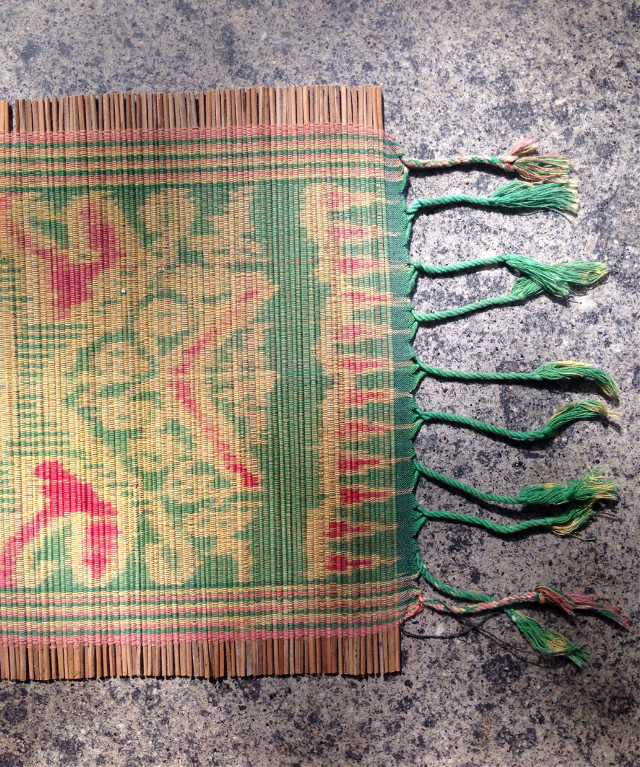 My kitchen mat on a marble shelf #texture