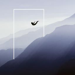 levitate minimal frame landscape light freetoedit