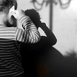 blackandwhite shadow cute child emotions