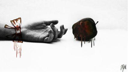 fteapple darkart edited emotions love