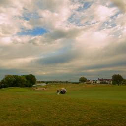 clouds golfcourse sky golfing rain
