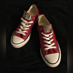 sneakers converse red tennisshoes