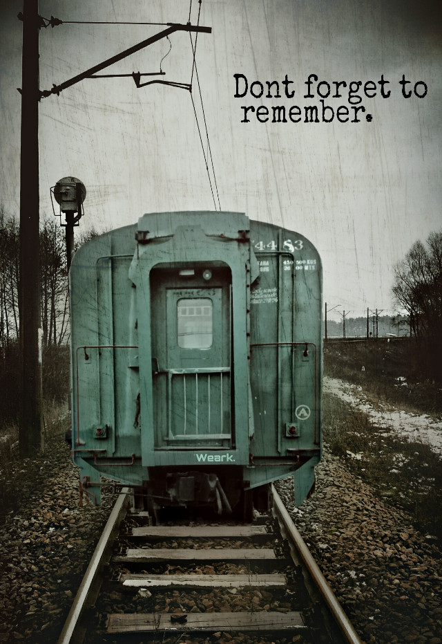 Don't forget  to remember.     #remember #memories #train #railway #photography #retro #vintage #urban #freetoedit
