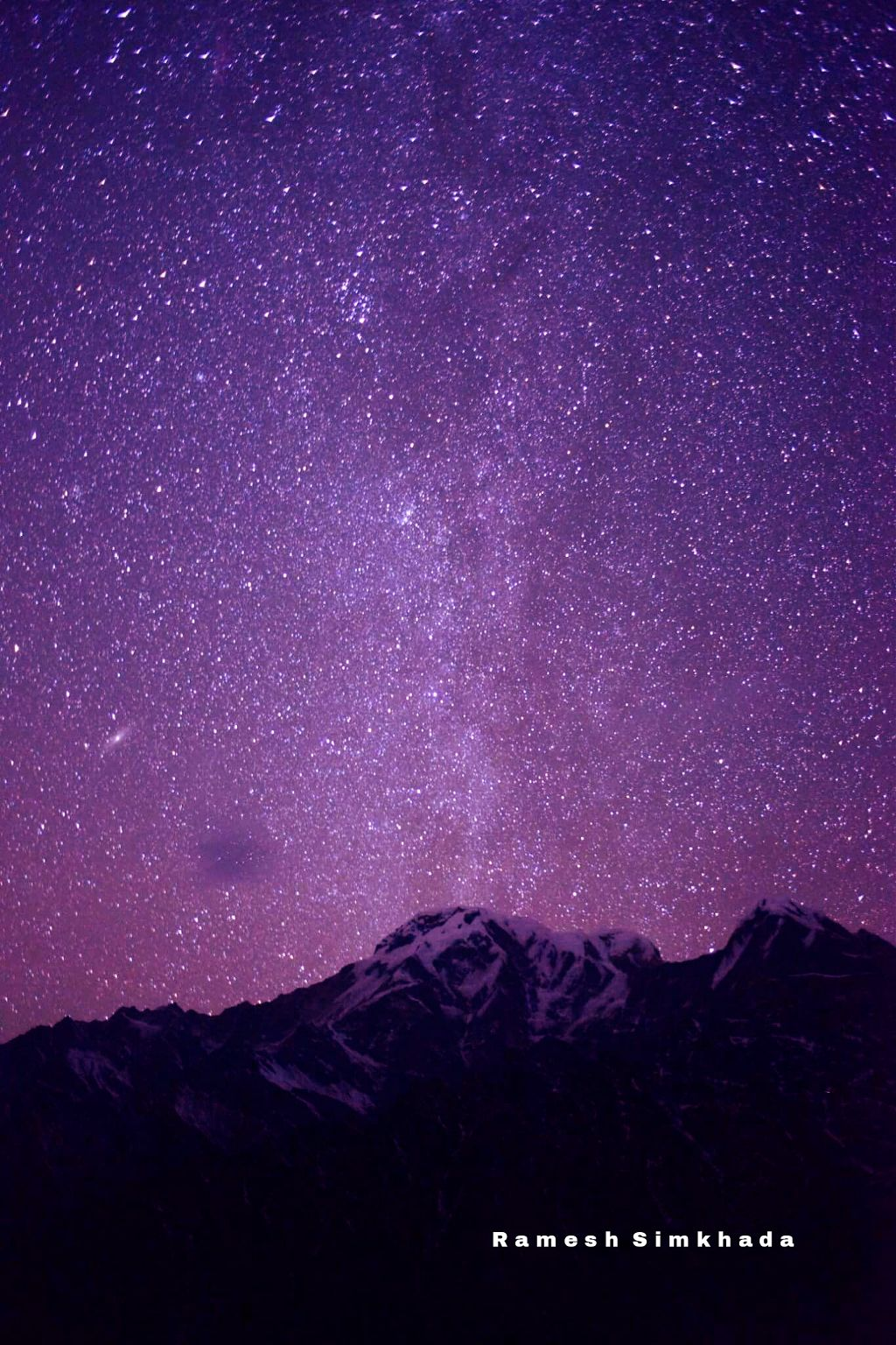 milkyway seen just over the annapurna south during the Mardihimal Trek.  #nepal #mountain #trek
