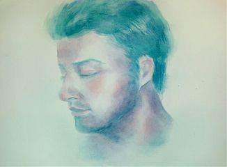 watercolor portrait drawing music