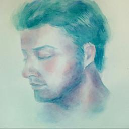 watercolor portrait drawing music