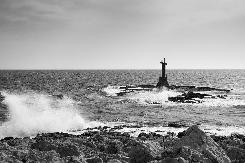 Power of the sea  #lighthouse #waves #sea #blackandwhite