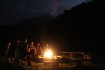 adventure travel camping bonefire