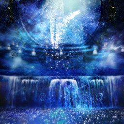 wapwalkonstars space couple stars waterfall
