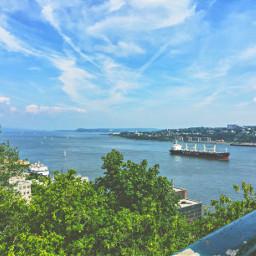 boat ship water canada sky