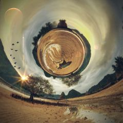 earthday art interesting beach globe