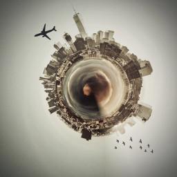freetoedit art interesting circular tinyplanet
