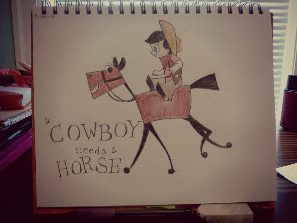 Oh a cowboy needs a horse, needs a horse, needs a horse  Original short by Disney