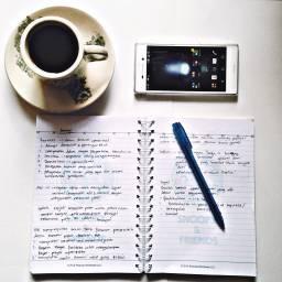 FreeToEdit book study handphone coffee