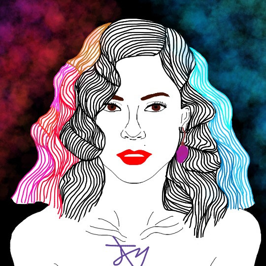 FROOT. Musician: Marina and The Diamonds #interesting #art #person #colors #frootalbum #froot #marinaandthediamonds #marinaandthediamondsfanart #marinadiamandis #colorful #red #love #FreeToEdit