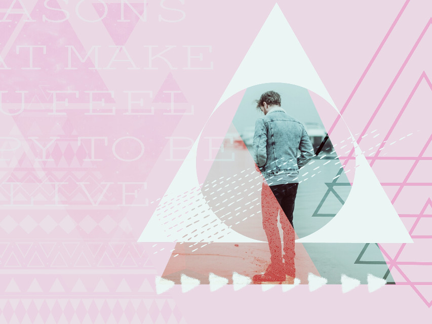 Thank you @pa 😘 Triangle Man @freetoedit #picsart #edited #triangles #design #textoverlay