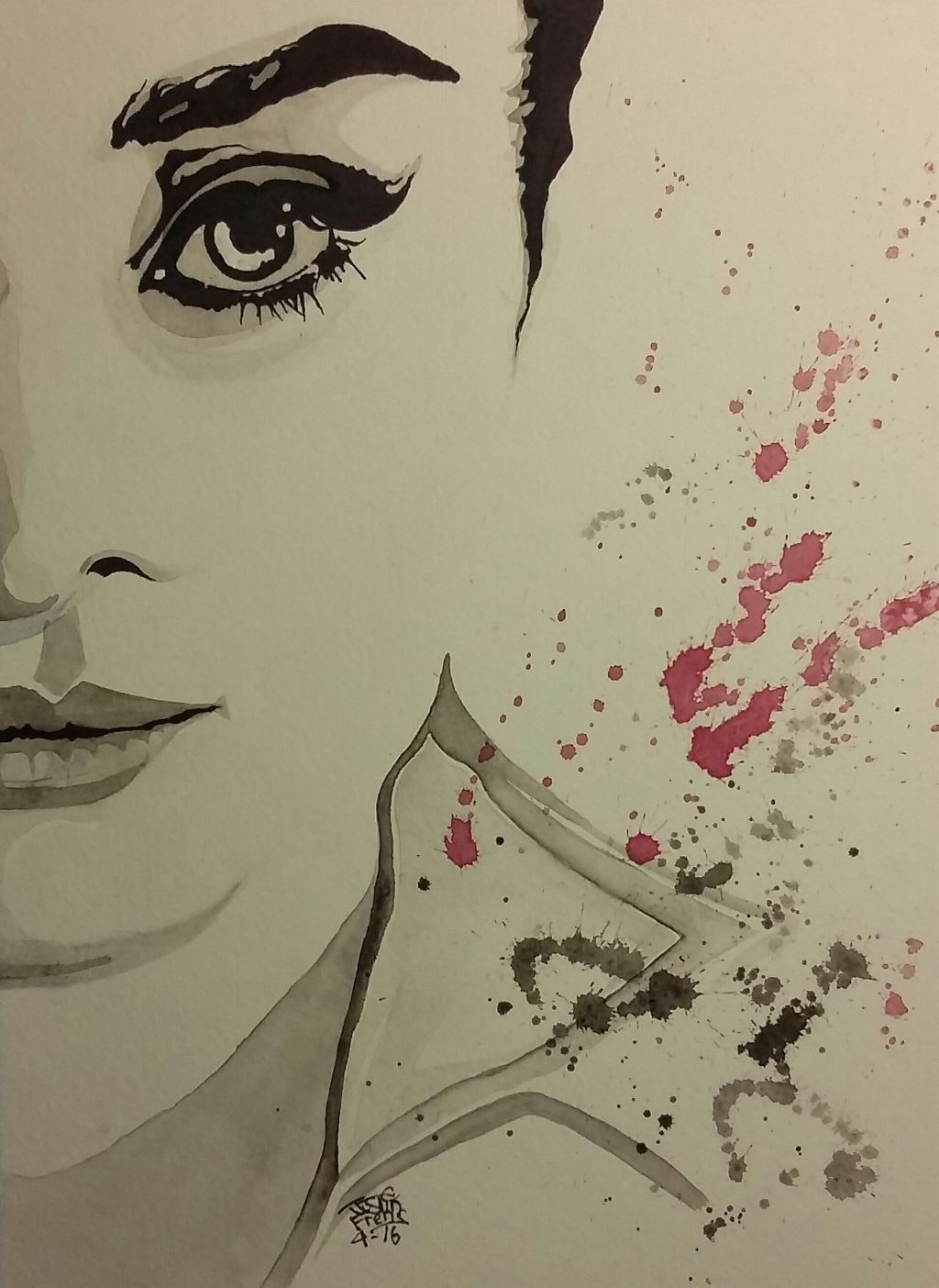 """Audrey"" Watercolor Painting by Justin Frehs"