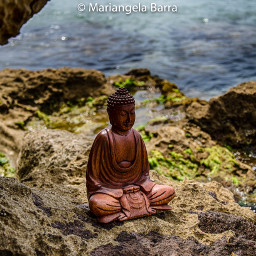 buddha rocks sea artisticphoto colorful