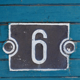 freetoedit number 6 numbersix sign