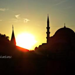 istanbul sunset sun s mosque