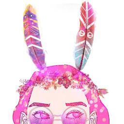 art draw edit wdphairstyle girl flowers glitter FreeToEdit