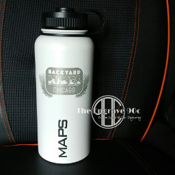 coated perfection water bottle ilustration