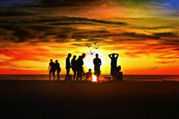 freetoedit madewithpicsart silhouette sunset friends