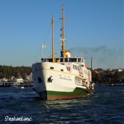 blue istanbul steamboat sea bosphorus