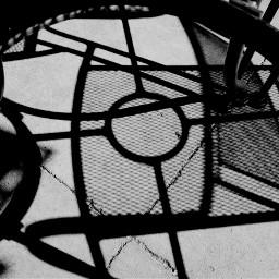 blackandwhite shadows chair