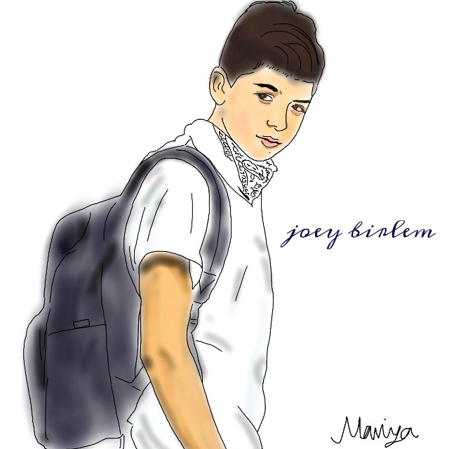 he's cuter than this picture #interesting #art #japan #joeybirlem #FreeToEdit #joey #love #boy #outline