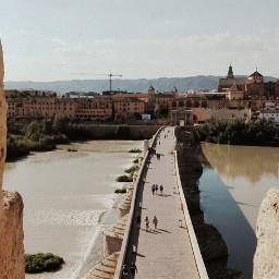 spain cordoba bridge mezquita andalucia