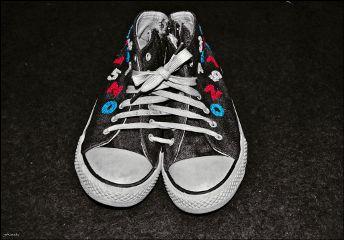 backtoschool colorsplash blackandwhite photography shoes