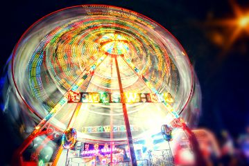 festival summer night bigwheel longexposure
